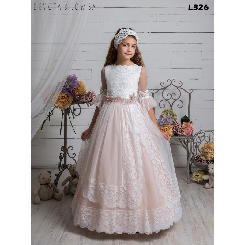 Vestido Comunión 2021 Devota Lomba Moda Infantil Mari Carmen